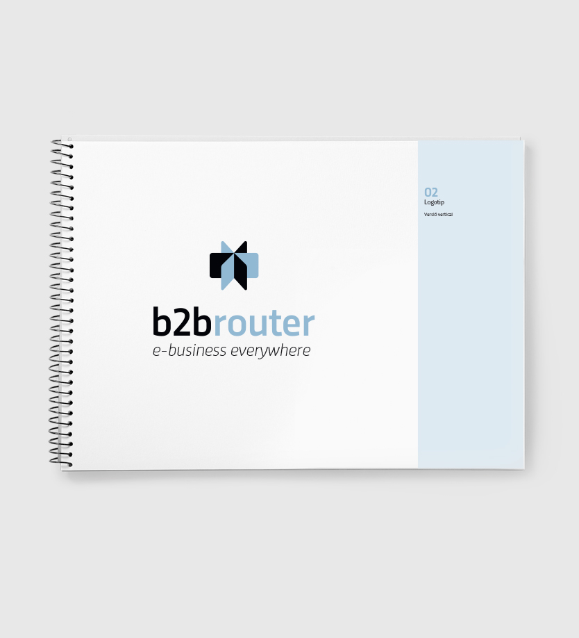 Manual d'identitat corporativa de B2B Router