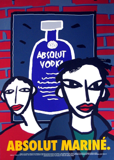 Oscar Mariné, cartell per Absolut Vodka